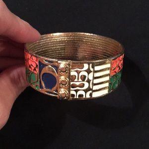 Coach multicolor bangle bracelet